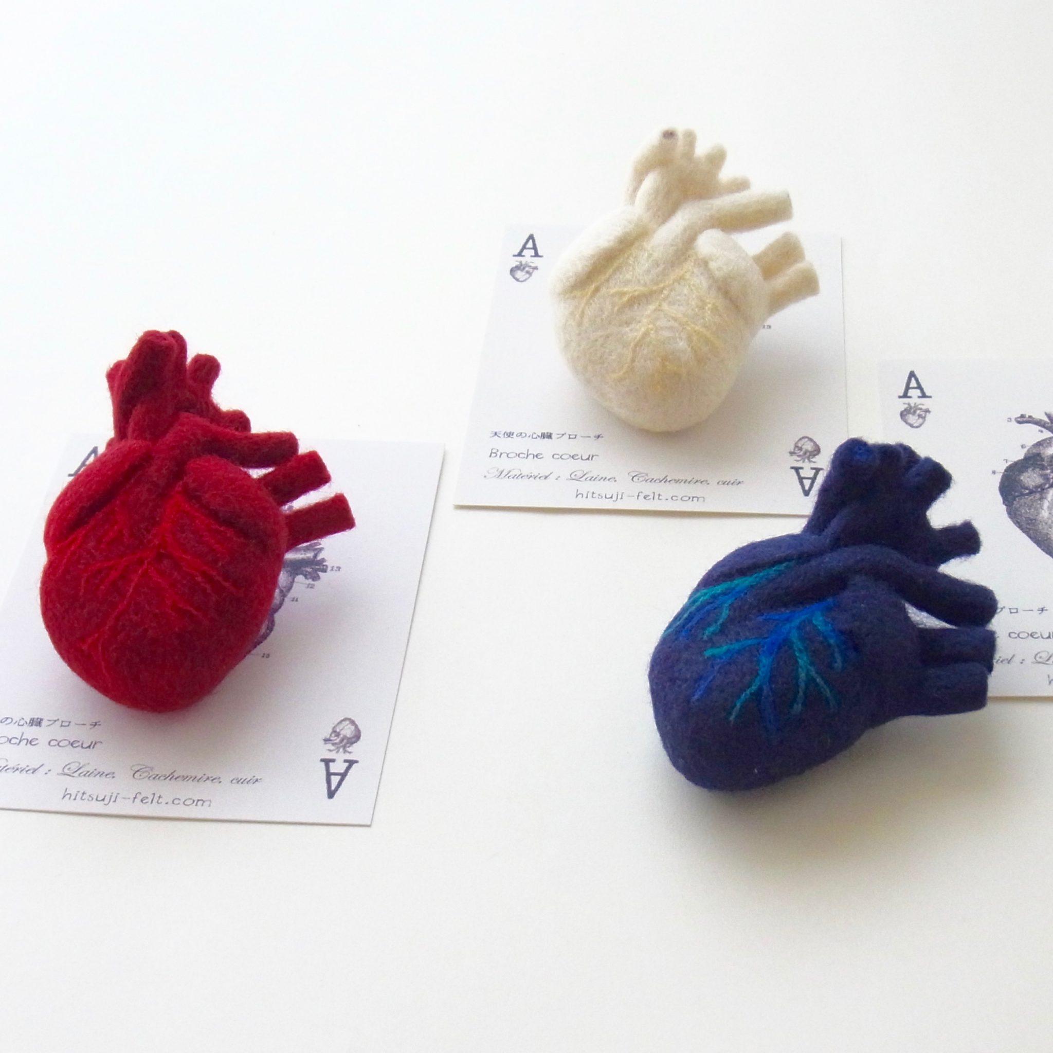 心臓のブローチ